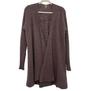 Free People Mixed Yarn Beach Shell Cardigan Size S